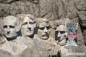 greenpeace Obama protest
